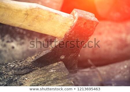 Bağbozumu fotoğraf eski çalışmak eldiven Stok fotoğraf © Mps197