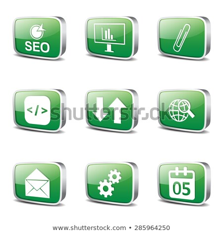 seo internet sign square vector green icon design set 6 stock photo © rizwanali3d