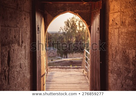 Open gate at medieval Kolossi castle. Limassol, Cyprus Stock photo © Kirill_M