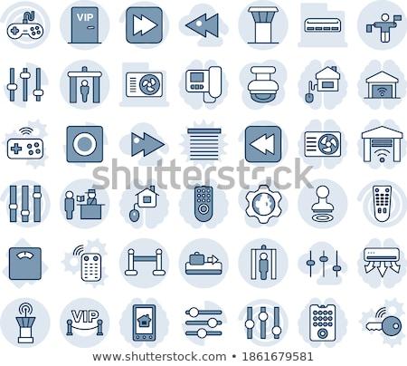 Multimedia Controller Blue Vector Button Icon Design Set Stock photo © rizwanali3d