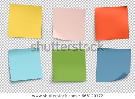 Teken Blauw sticky notes vector icon ontwerp Stockfoto © rizwanali3d