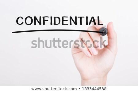 Confidential write on folder Stock photo © fuzzbones0