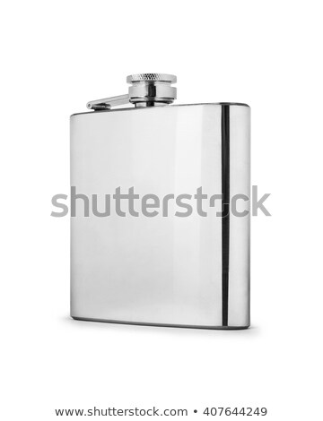 Foto stock: Inoxidável · quadril · isolado · branco · beber