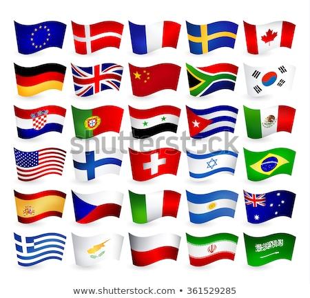 Canada Syrië vlaggen vector afbeelding puzzel Stockfoto © Istanbul2009