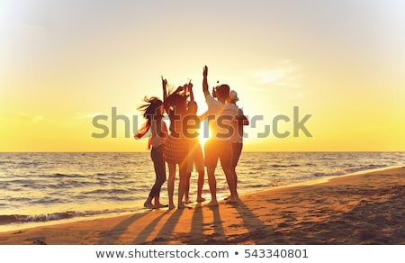 dancing on the beach stock photo © anna_om