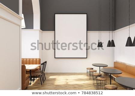 fila · arancione · tavola · sedia · divano - foto d'archivio © art9858