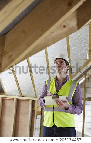 tetto · imprenditore · home · vento - foto d'archivio © highwaystarz
