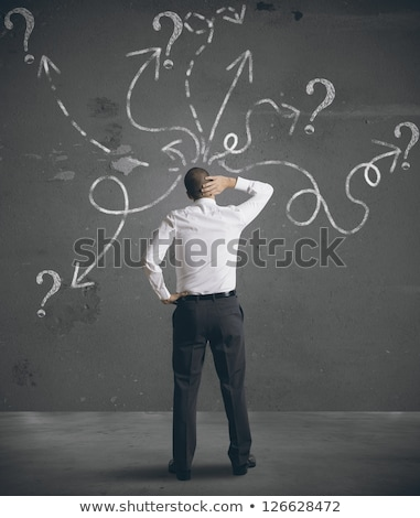 Business man lost direction Stock photo © fuzzbones0
