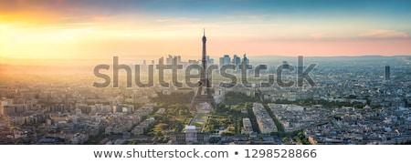 Эйфелева · башня · Париж · антенна · закат · Франция · небе - Сток-фото © andreykr