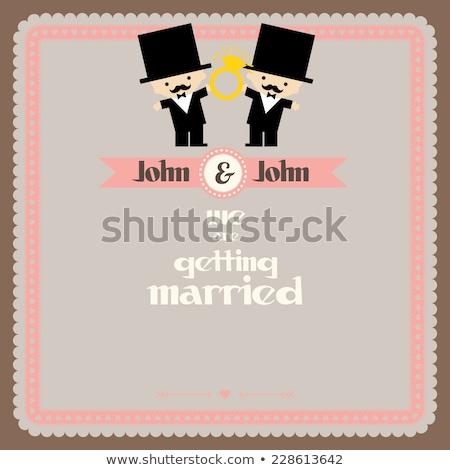 гей мужчины пару любящий изолированный Сток-фото © mcherevan