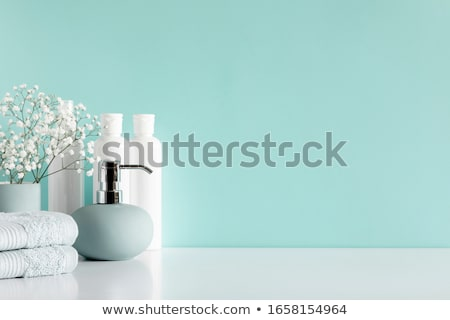 contemporáneo · bano · moderna · doble · beige · marrón - foto stock © fouroaks