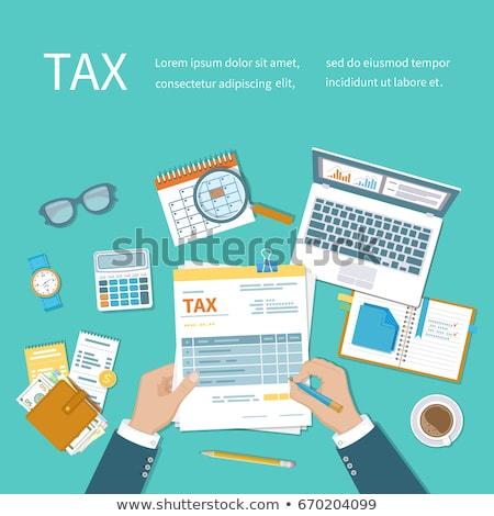comptables · impôt · comptable · recettes · isolé - photo stock © fuzzbones0