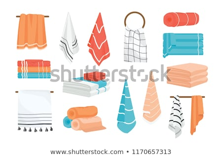 stack of clean kitchen towels Stock photo © shutswis