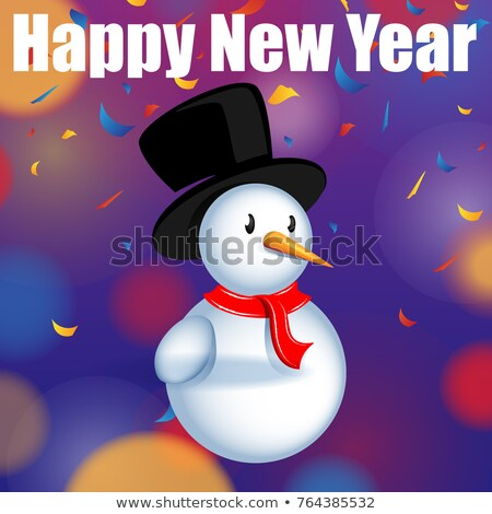abstract christmas explode background with snow man Stock photo © pathakdesigner