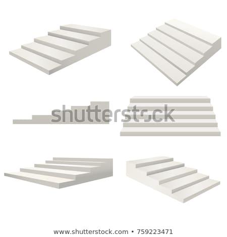 Lépcső lépcső terv épület építkezés Stock fotó © shawlinmohd