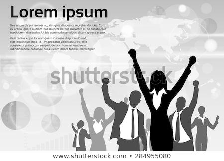 Vencedor executivo campeão empresário abstrato azul Foto stock © tetkoren