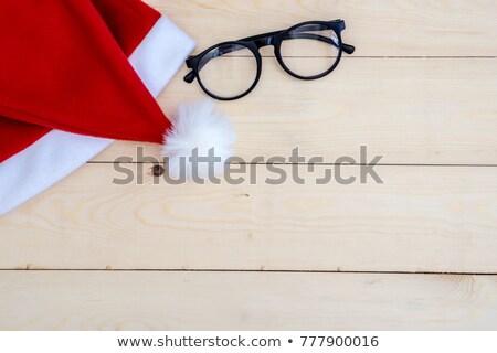 rot · hat · Holz · Holztisch · schwarz - stock foto © stevanovicigor