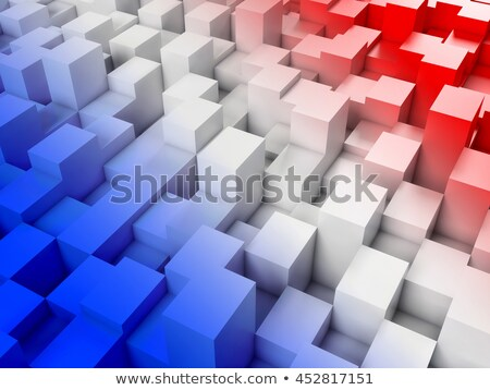 France Flag Cubic Stock photo © hlehnerer