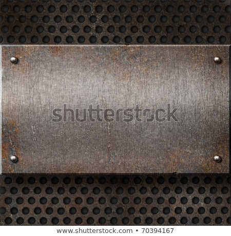 Rusty metal grill plate Stock photo © stevanovicigor