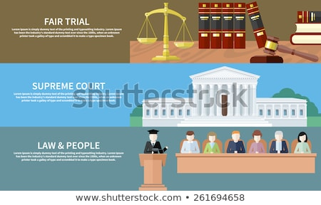 Fair Trial Concept Icon Flat Design Stock photo © robuart