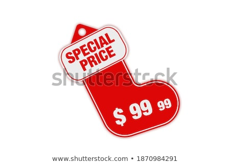 Foto stock: Navidad · precio · mercado · venta · etiqueta · línea
