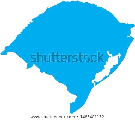 Сток-фото: карта · Рио · зеленый · вектора · изолированный · иллюстрация