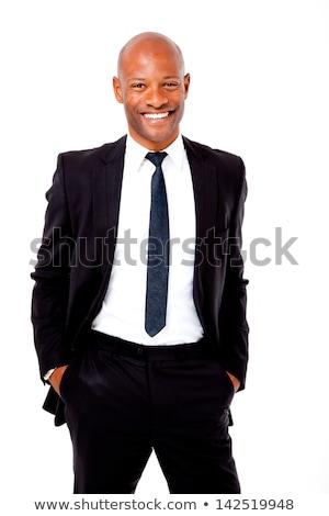 empresário · holofote · negócio · homem · multidão · alto-falante - foto stock © feedough