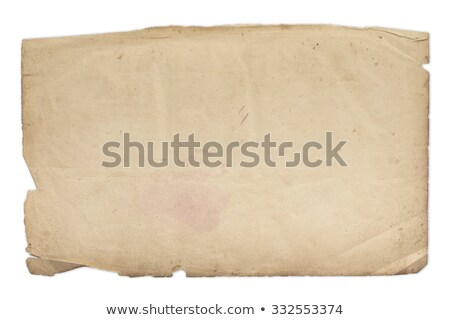 very old blank yellowed paper stock photo © 3mc