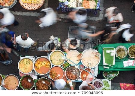 cinese · zuppa · bianco · ceramica · ciotola · cucchiaio - foto d'archivio © meinzahn