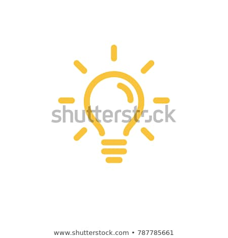 light idea icon Stock photo © kiddaikiddee