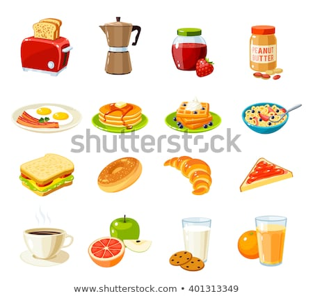 cartoon breakfast collection stock photo © kariiika