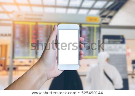 modern arabic businessman inside airplane stock photo © zurijeta