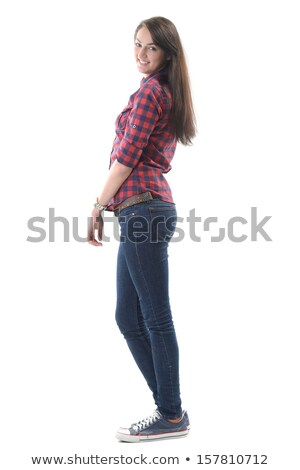 Handsome girl posing sideways Stock photo © zurijeta