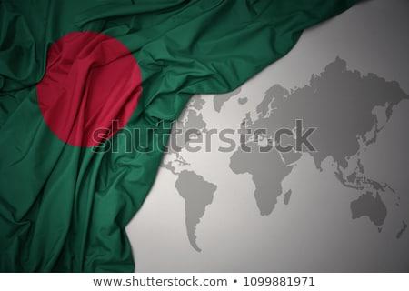 Amor Bangladesh mapa corazón signo bandera Foto stock © shawlinmohd