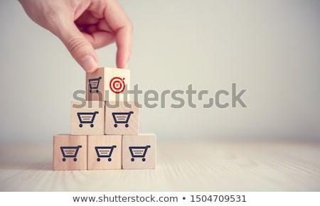 Jövedelem bolt ikon üzlet szürke gomb Stock fotó © WaD