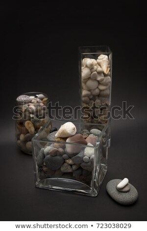 Round glass showcase with pedestal, top view Stock photo © cherezoff