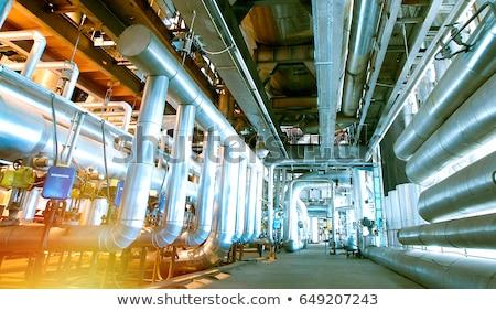 nucléaire · centrale · vecteur · cartoon · illustration · isolé - photo stock © rastudio