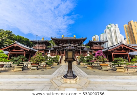 It IS Chi Lin Nunnery in Hong Kong. Stock photo © cozyta