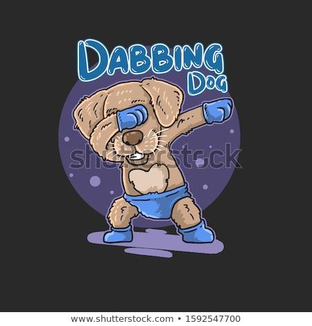 Сток-фото: �илая · танцующая · собака