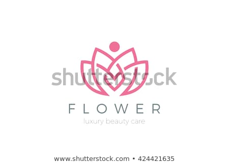 Lótuszvirág vektor logo illusztráció természet egészség Stock fotó © doddis