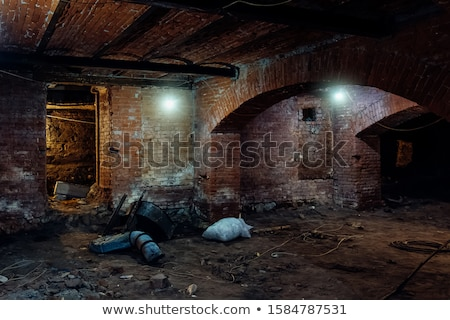 ストックフォト: Inside Of A Creepy Old Church
