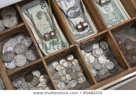 Close up on American currency in cash drawer Stock photo © ozgur