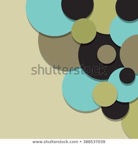 Marrón círculo material diseno stock vector Foto stock © punsayaporn