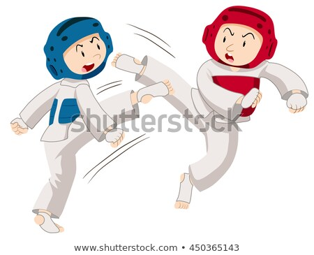 Two players doing taekwondo Stock photo © bluering