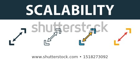 Business and startup, yellow fill icons set Stock photo © ConceptCafe