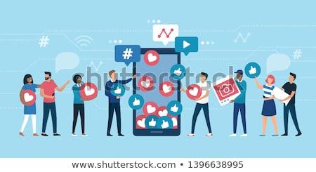 Társasági virális kommunikáció internet média vírus Stock fotó © Lightsource