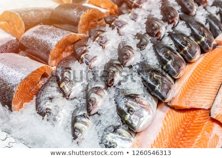 Fresh fish and seafood for sale Stock photo © elxeneize