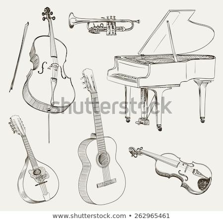 Stock photo: Mandolin sketch icon.