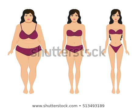 fat woman in the form after the diet Stock photo © adrenalina