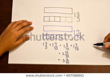 Iskola tábla szó problémák fa asztal iroda Stock fotó © fuzzbones0
